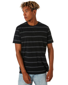 BLACK MENS CLOTHING RIP CURL TEES - CTESA20090