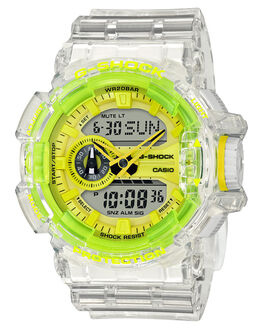 TRANSPARENT LIME MENS ACCESSORIES G SHOCK WATCHES - GA400SK-1A9TLME