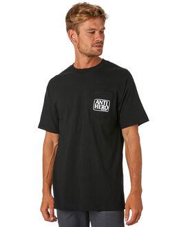 BLACK WHITE MENS CLOTHING ANTI HERO TEES - 51020287DBLKWH