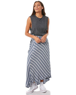 NAVY STRIPE WOMENS CLOTHING O'NEILL SKIRTS - 4722406-21A