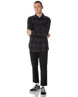 BLACK MENS CLOTHING AFENDS SHIRTS - M182252BLK