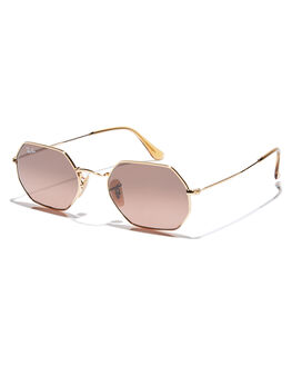 GOLD BROWN GREY WOMENS ACCESSORIES RAY-BAN SUNGLASSES - 0RB3556NGLDBG