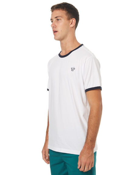 WHITE MENS CLOTHING RVCA TEES - R172065WHT