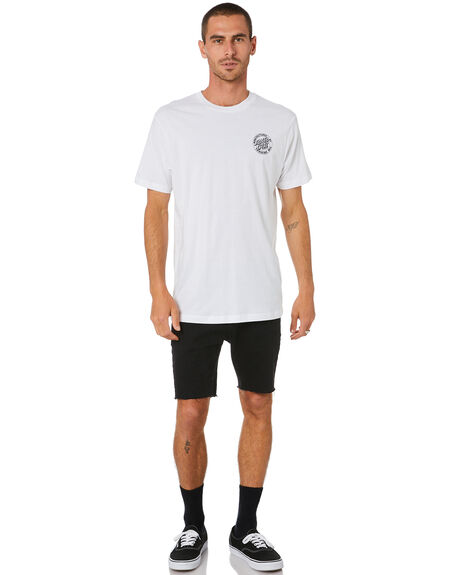 WHITE MENS CLOTHING SANTA CRUZ TEES - SC-MTD0912WHT