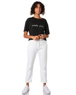 BLACK WOMENS CLOTHING COOLS CLUB TEES - 104-CW2BLK