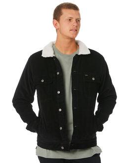 BLACK MENS CLOTHING RVCA JACKETS - R181433BLK