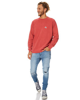 WASHED RED MENS CLOTHING STUSSY JUMPERS - ST077201WRED