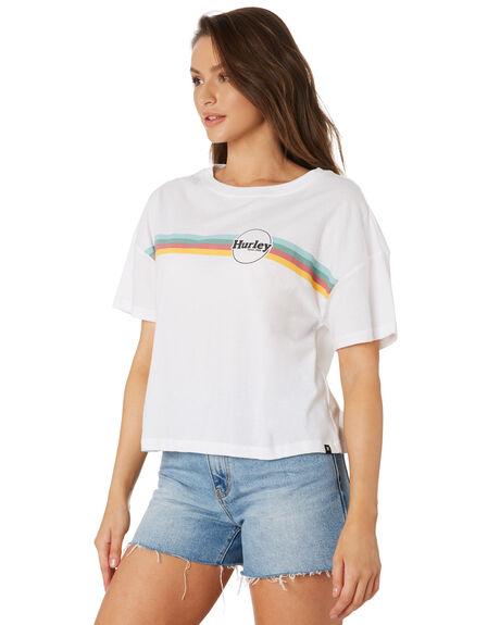WHITE WOMENS CLOTHING HURLEY TEES - CI0809100