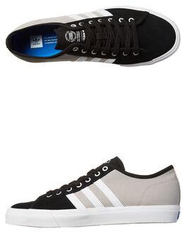 BLACK WHITE MENS FOOTWEAR ADIDAS ORIGINALS SKATE SHOES - BB8604BLK
