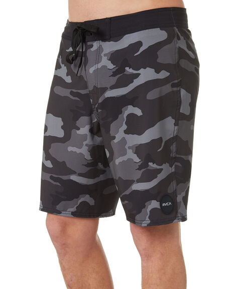 CHARCOAL BLACK MENS CLOTHING RVCA BOARDSHORTS - R393410CHABK