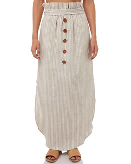 STRIPE GOLD WOMENS CLOTHING WILDE WILLOW SKIRTS - K358-1STR