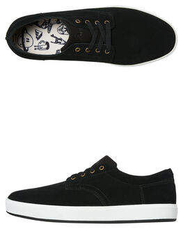 BLACK WHITE MENS FOOTWEAR EMERICA SKATE SHOES - 6102000104976