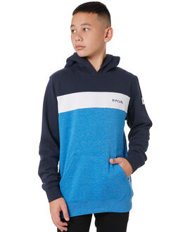 MID BLUE MARLE KIDS BOYS RIP CURL JUMPERS + JACKETS - KFEPJ18684