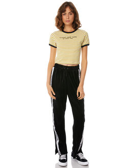 YELLOW STRIPE WOMENS CLOTHING STUSSY TEES - ST182111YEL