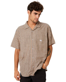 TAN MENS CLOTHING STUSSY SHIRTS - ST093400TAN
