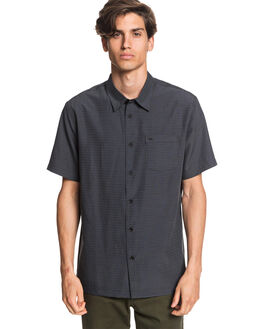 BLACK CENTINELLA MENS CLOTHING QUIKSILVER SHIRTS - EQMWT03232-KVJ1