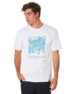 WHITE MENS CLOTHING HUF TEES - TS00585-WHITE