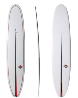 POLISHED CLEAR WITH V COLOUR BOARDSPORTS SURF CLASSIC MALIBU LONGBOARD - CLAVFLEXCLE