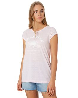 LILAC WOMENS CLOTHING RIP CURL TEES - GTECI20108