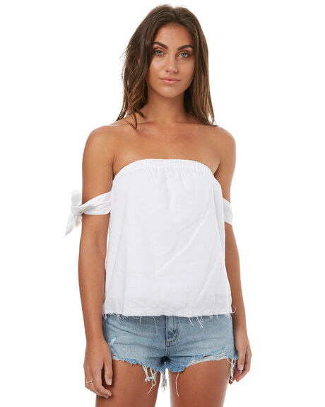 WHITE WOMENS CLOTHING TEE INK FASHION TOPS - CAST23AWHT