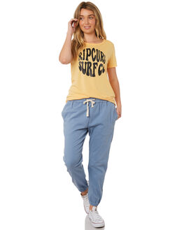 LIGHT YELLOW WOMENS CLOTHING RIP CURL TEES - GTEAD24094