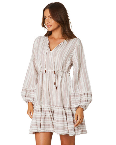 NATURAL WOMENS CLOTHING TIGERLILY DRESSES - T305411NAT