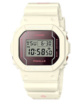 WHITE  PINK MENS ACCESSORIES G SHOCK WATCHES - DW5600PGW-7DWHTPK