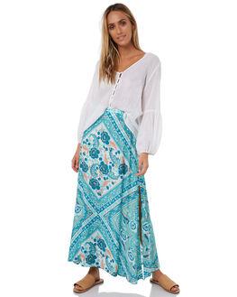 TURQUOISE WOMENS CLOTHING ARNHEM SKIRTS - ARSKTU01TURQ