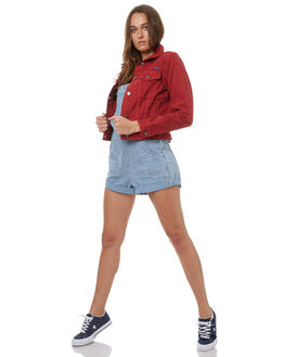 RED DENIM WOMENS CLOTHING WRANGLER JACKETS - W-950856-338RED