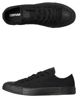 BLACK MONOCHROME MENS FOOTWEAR CONVERSE SNEAKERS - SS15039BLKMOM c16e84ef4