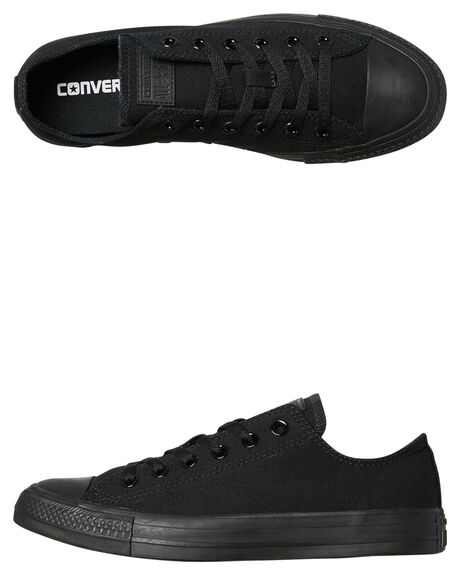ff70be19bb4e Converse Mens Chuck Taylor All Star Lo Shoe - Black Monochrome ...