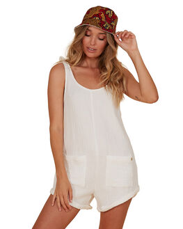WHITE WOMENS CLOTHING BILLABONG PLAYSUITS + OVERALLS - BB-6507698M-WHT