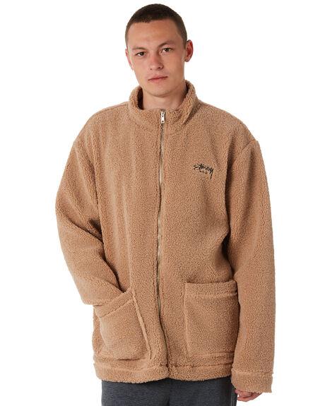 TAN MENS CLOTHING STUSSY JACKETS - ST087501TAN
