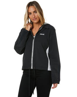 BLACK WOMENS CLOTHING HURLEY JACKETS - CI1475010