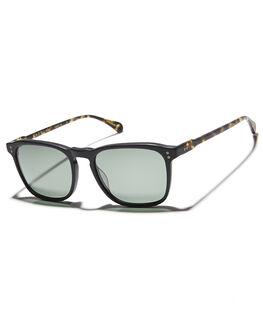 MATTE BLACK MENS ACCESSORIES RAEN SUNGLASSES - WLY-045-ZPGRNMBBLK