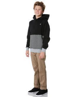 BLACK KIDS BOYS VOLCOM JUMPERS - C4131813BLK