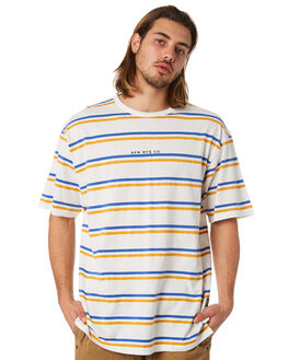 GOLD STRIPE MENS CLOTHING RPM TEES - 8PMT01AGSTRP
