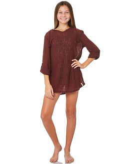 RUBY WINE KIDS GIRLS BILLABONG TOPS - 5571151RW2