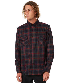 RED MENS CLOTHING ZOO YORK SHIRTS - ZY-MSA8144RED