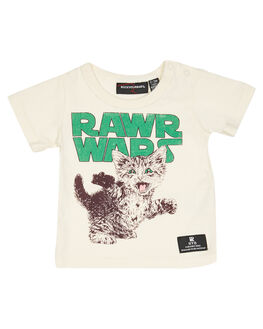 CREAM OATMEAL KIDS BABY ROCK YOUR BABY CLOTHING - BBT1914-RWOAT