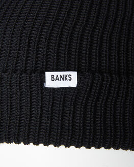 DIRTY BLACK MENS ACCESSORIES BANKS HEADWEAR - BE0034DBL