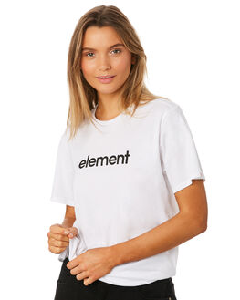 WHITE WOMENS CLOTHING ELEMENT TEES - 286011WHT