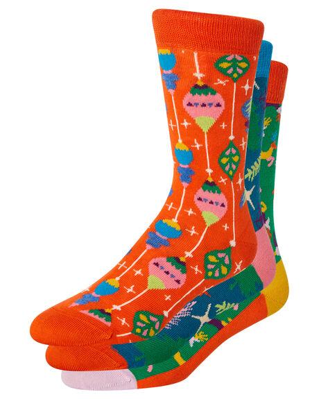 MULTI WOMENS CLOTHING HAPPY SOCKS SOCKS + UNDERWEAR - XMAS08-4003MTL