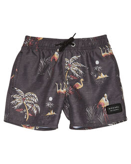 BLACK KIDS BOYS RIP CURL BOARDSHORTS - OBOSX10090