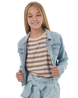 MEGA BLEACH KIDS GIRLS RIDERS BY LEE JACKETS - R-580045-CZ8BLEA
