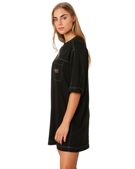 BLACK WOMENS CLOTHING STUSSY DRESSES - ST192505BLK