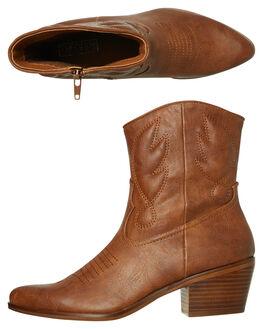 TAN WOMENS FOOTWEAR THERAPY BOOTS - 10068TAN