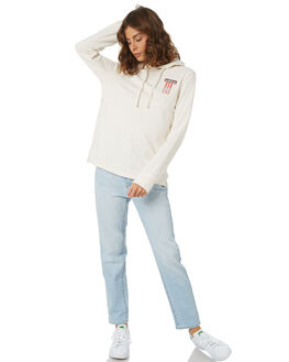 CHALK WHITE WOMENS CLOTHING ADIDAS JUMPERS - DH4666CWHT