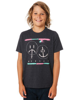 BLACK HEATHER KIDS BOYS HURLEY TOPS - BQ1503032