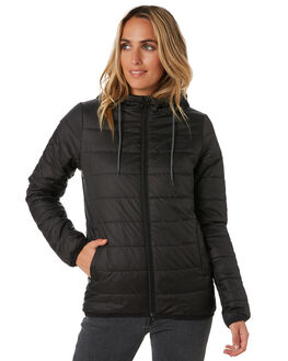 BLACK WOMENS CLOTHING RIP CURL JACKETS - GJKDY10090